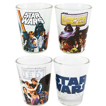 STAR WARS Movie Trilogy Shot Glass Set