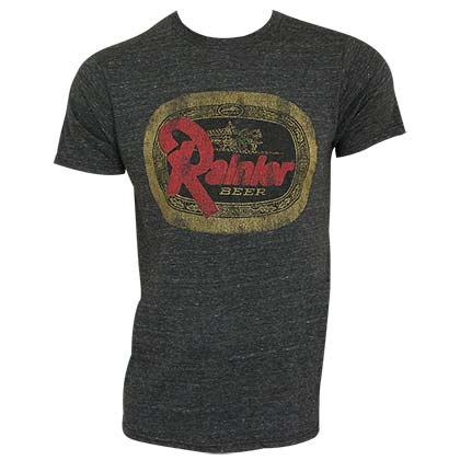 RAINIER Beer Logo Retro Brand Dark Heather Charcoal Men's T-Shirt