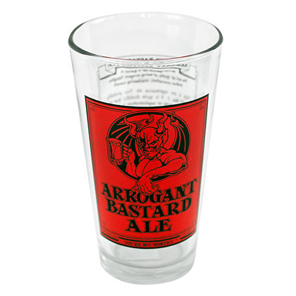 ARROGANT BASTARD Ale Story Beer Pint Glass