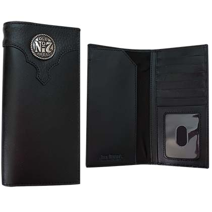 Jack Daniel's Old No. 7 Rodeo Medallion Leather Wallet
