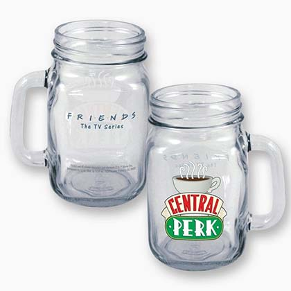 FRIENDS Central Perk 16oz Mason Jar Glass Mug