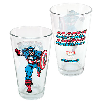 CAPTAIN AMERICA Toon Tumblers Beer Pint Glass