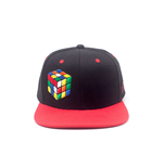 Rubik's - Coloured Rubik's Cube Black Snapback