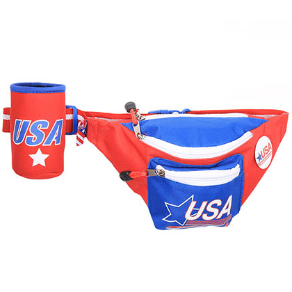 USA Vintage Fanny Pack With Can Cooler
