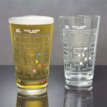 PAC-MAN Arcade Color Changing Pint Glass