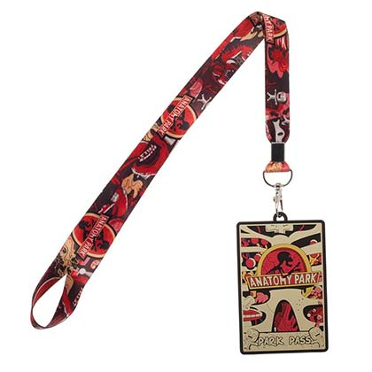 Rick and Morty Anatomy Park Badge Holder Lanyard