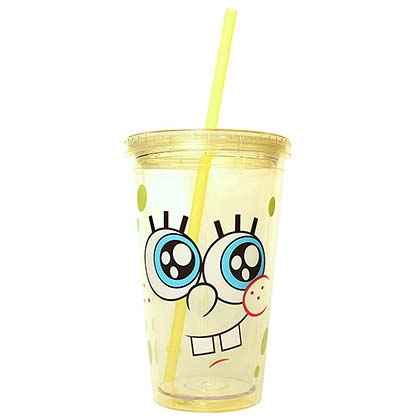 SPONGEBOB SQUAREPANTS Cup With Lid And Straw 16oz