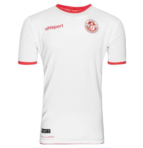 2018-2019 Tunisia Home Uhlsport Football Shirt