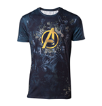 MARVEL COMICS Avengers: Infinity War Men's Team Sublimation Print T-Shirt, Small, Multi-colour
