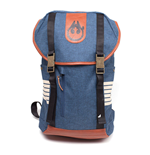 STAR WARS Han Solo Elaborated Style Backpack with Dual Buckle Straps, Blue Melange/Orange