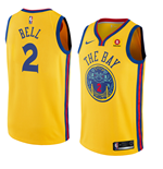 Men's Golden State Warriors Jordan Bell Nike City Edition Replica Jersey
