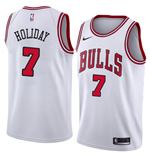Men's Chicago Bulls Justin Holiday Nike Association Edition Replica Jersey