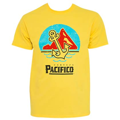 PACIFICO Anchor Scene Men's Yellow TShirt