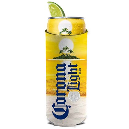 Corona Light Sun 12 Ounce Slim Can Cooler