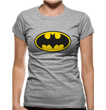 Batman - Logo - Women Fitted T-shirt Grey