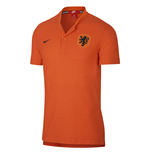2018-2019 Holland Nike Authentic Polo Shirt (Orange)