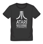 ATARI Male Entertainment Technologies Logo T-Shirt, Large, Black