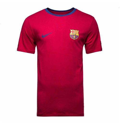 2018-2019 Barcelona Nike Core Crest Tee (Red)