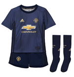 2018-2019 Man Utd Adidas Third Little Boys Mini Kit