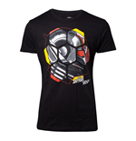 MARVEL COMICS Ant-Man and the Wasp Male Ant-Man Head T-Shirt, Extra Large, Black