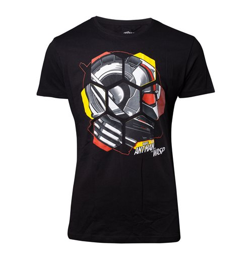 MARVEL COMICS Ant-Man and the Wasp Male Ant-Man Head T-Shirt, Large, Black