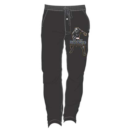 BLACK PANTHER Men's Black Sweatpants