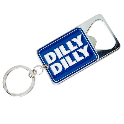 Bud Light Dilly Dilly Logo Beer Metallic Bottle Opener Keychain