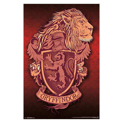 HARRY POTTER Gryffindor Lion Poster