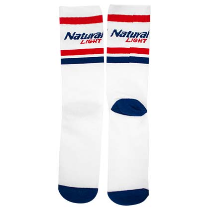 NATURAL LIGHT White Striped Socks
