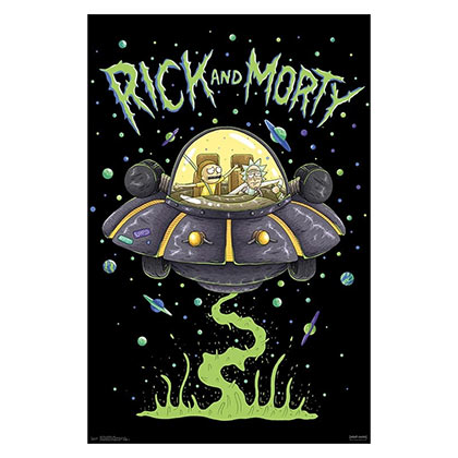 Rick and Morty UFO 23x34 Poster