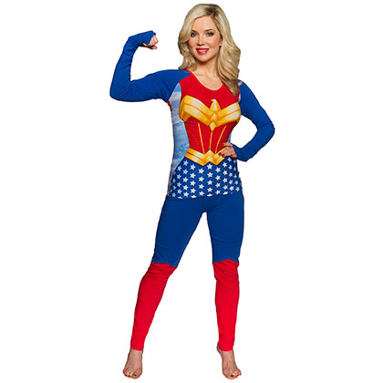 WONDER WOMAN Superhero Costume Shirt Pants Women's Sleep Set