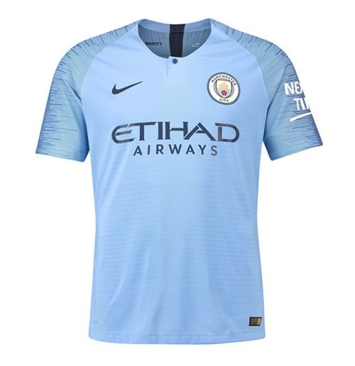 2018-2019 Man City Nike Vapor Home Match Shirt
