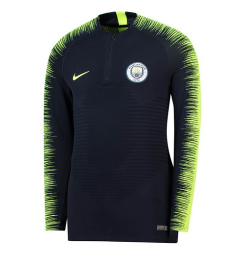 2018-2019 Man City Nike Strike Vaporknit Drill Top (Obsidian)