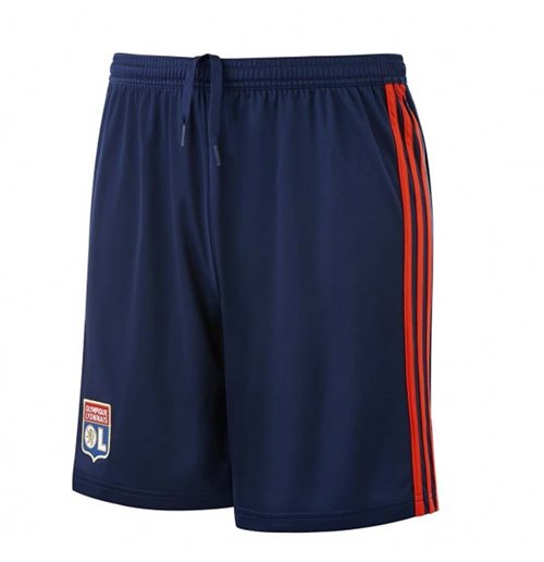 2018-2019 Olympique Lyon Adidas Away Shorts (Navy)