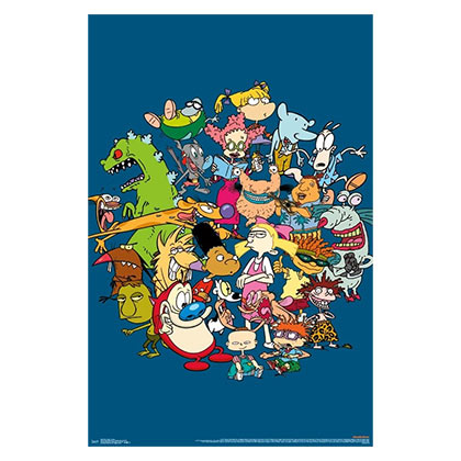 Nicktoons NICKELODEON Cartoon Characters Poster