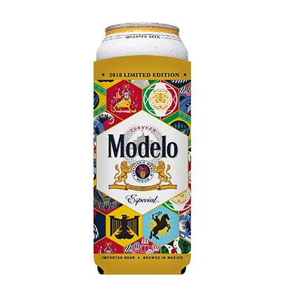 Modelo Soccer 24oz Beer Insulator Can Cooler