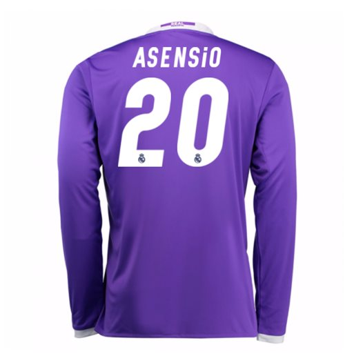 2016-17 Real Madrid Away Longsleeve Shirt (Asensio 20)