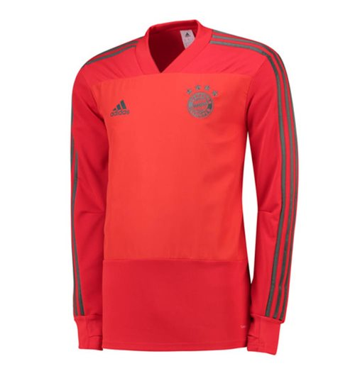 2018-2019 Bayern Munich Adidas Training Top (Red)
