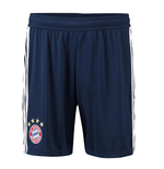 2018-2019 Bayern Munich Adidas Home Shorts (Navy)