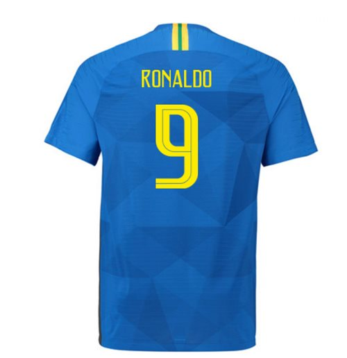 2018-2019 Brazil Away Nike Vapor Match Shirt (Ronaldo 9)