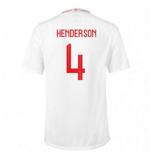 2018-2019 England Home Nike Football Shirt (Henderson 4)