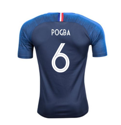 competitive price db727 c224e 2018-2019 France Home Nike Football Shirt (Pogba 6) - Kids