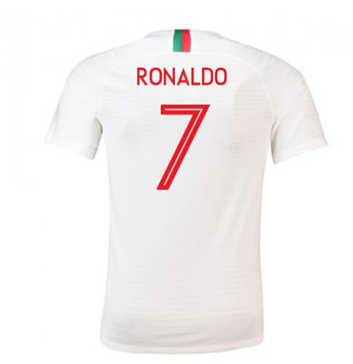2018-2019 Portugal Away Nike Football Shirt (Ronaldo 7) - Kids