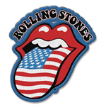 The Rolling Stones Standard Patch: US Tongue with Iron On Finish