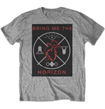 Bring Me The Horizon Men's Tee: Heart & Symbols
