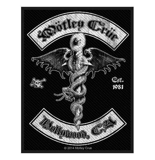 Motley Crue Standard Patch: Hollywood (Loose)