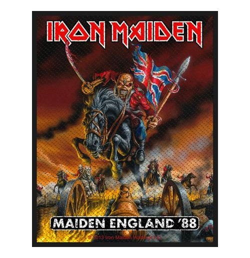 Iron Maiden Standard Patch: Maiden England (Packed)