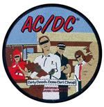 AC/DC Standard Patch: Dirty Deeds (Loose)