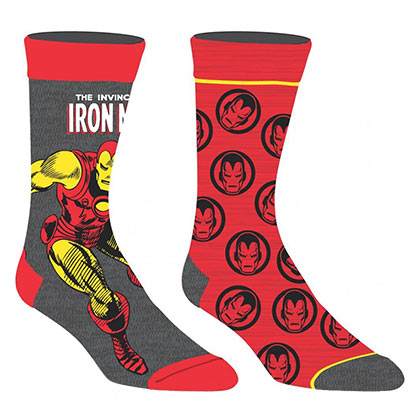 IRON MAN Marvel 2 Pack Men's Crew Socks