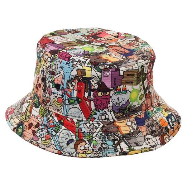 Rick And Morty Show Characters Bucket Hat